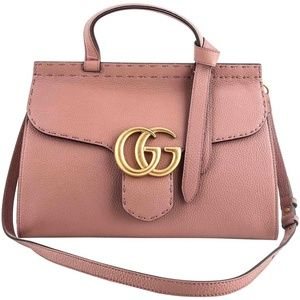 Gucci GG Marmont Leather Top Handle Antique Rose